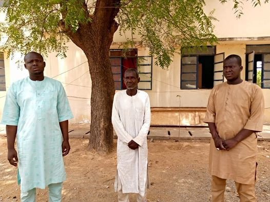 Photo of the three men who were arrested for insulting president Buhari