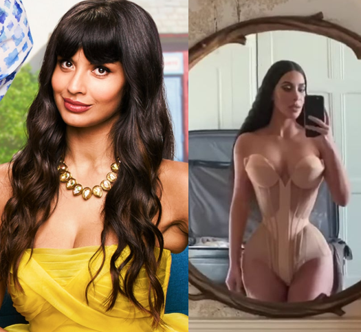 Actress Jameela Jamil Condemns Kim Kardashian's Use Of Corsets And Advises Women Not To Be Influenced By Her.....