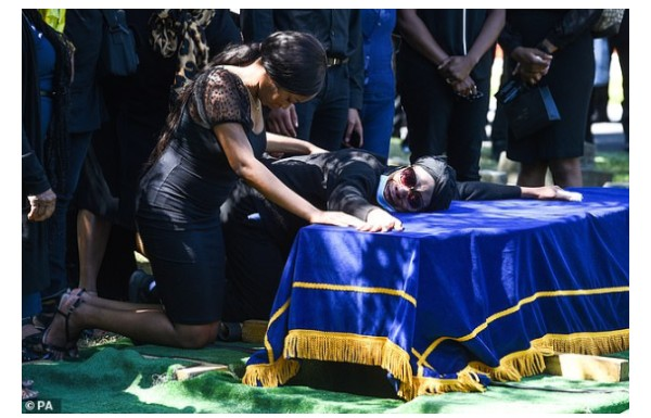 #BBNaija: Tears Flow At The Burial Of Khafi's Brother (Photos And Video)