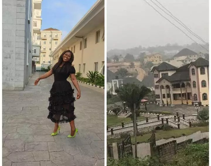 Reactions As Uche Jombo Shares Beautiful Photos Of Her Village That Look That 'Small London'.