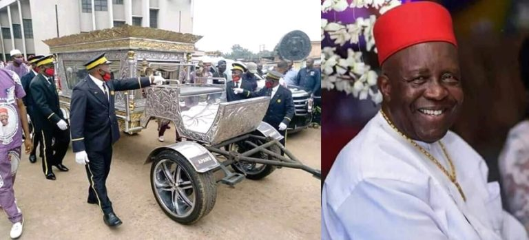 Late CEO Of Tonimas Oil and Gas, Chief Anthony Reportedly Buried In N34million Casket(Photos)