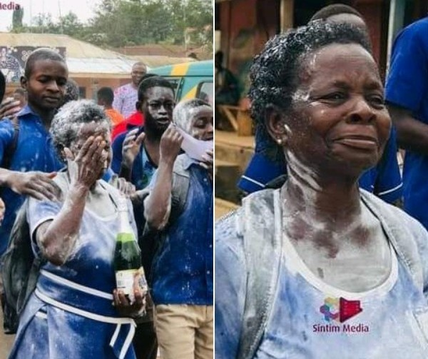 60-Year-Old Grandmother Is Celebrated By Junior Students After Completing Her Junior Secondary School Certificate Examination