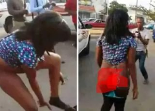 Lady Runs Mad As Soon As She Came Down From A Flashy Car