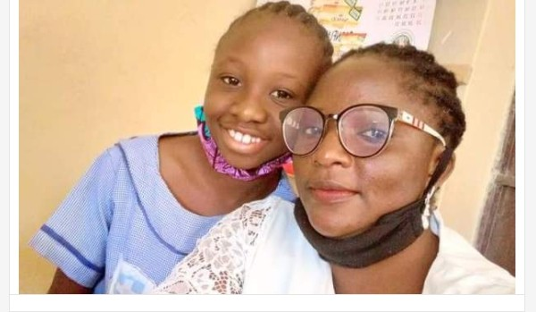 Wow! Girl Draws Her Teacher To Celebrate Her On Women's Day In Jos (Photos