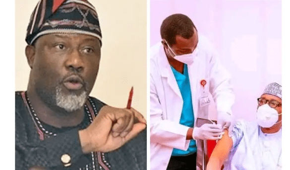 You Won't Believe What Dino Malaye Said After President Buhari Took The Covid-19 Vaccine