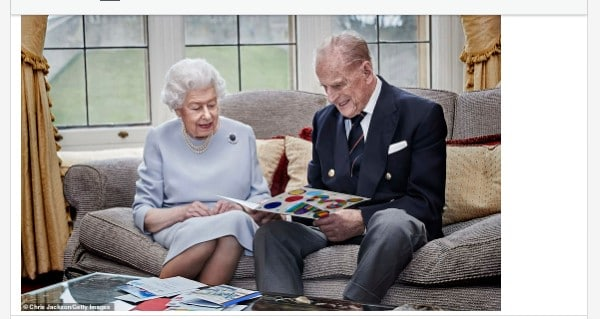 Queen Elizabeth's Husband, Prince Philip Is Dead (Photo)