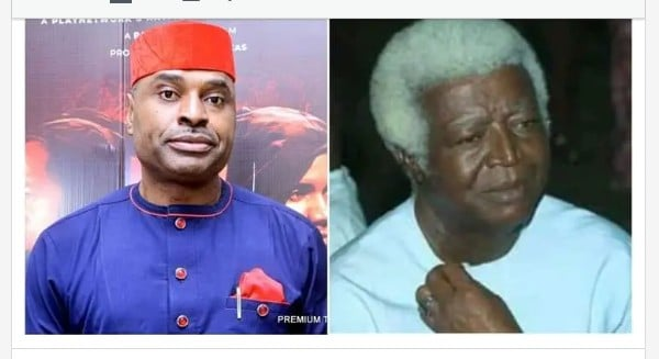 Actor Kenneth Okonkwo Mourns Late Veteran Actor Bruno Iwuoha,Pays Tribute