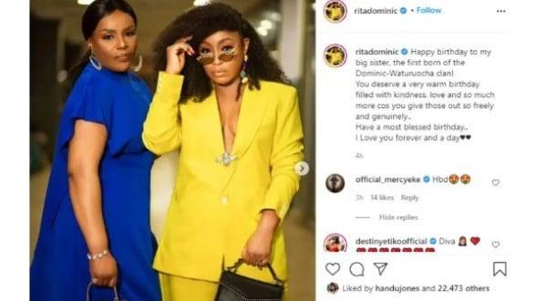 Actress, Rita Dominic Celebrates Her Elder Sister On Her Birthday