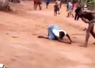 Young Man Mercilessly Kicks And Flogs His Mother (Video)