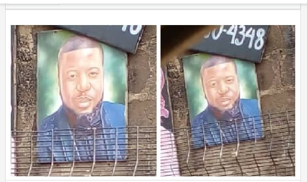 Hushpuppi's Portrait Spotted Somewhere In Lagos