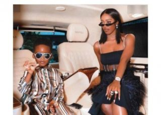 Tiwa Savage's Son, Jamil Reacts As Tiwa Tried Correcting Him For Picking His Nose (Video)