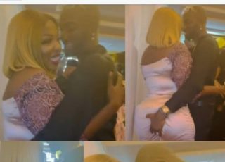 Actress Anita Joseph's Husband Grabs Her Butt As They Celebrate 4 Years Of Togetherness (Video)