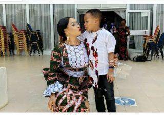 """""""My Small Husband"""" -Actress Tonto Dikeh Says, Shares Photos Of Herself And Son"""