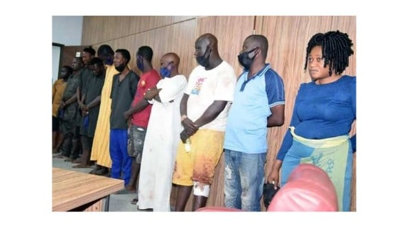 DSS paraded suspects from the raid on Sunday Igboho's house