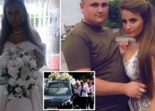 A Heartbroken Bride-To-Be Wears Her Wedding Dress To Her Fiance's Funeral Who Died In A Car Crash