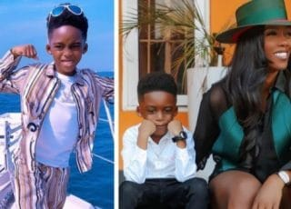 I Am Famous Because Of You -Tiwa Savage's Son Tells Her (Video)