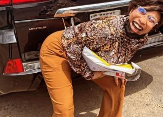 Tonto Dikeh Happy As She Retrieves Her Car From Former Lover